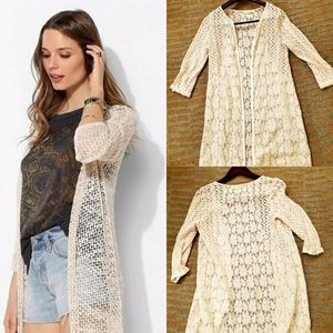 Staring at Stars lace and crochet cardi kimono